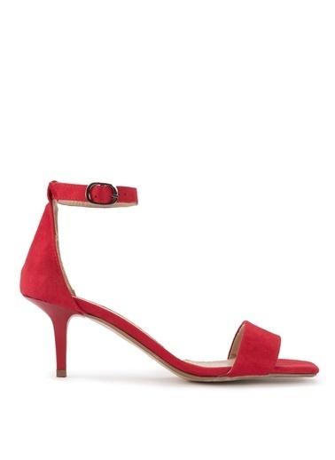 Sole Sisters Topuklu Sandalet Kırmızı - Kakidony Kırmızı
